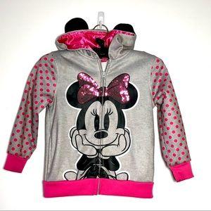 Disney Toddler Girls Minnie Mouse Full Zip Hoodie